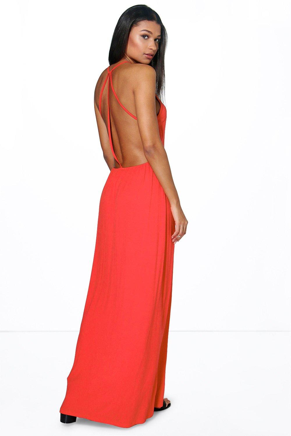 Sophia Strappy Back Maxi Dress