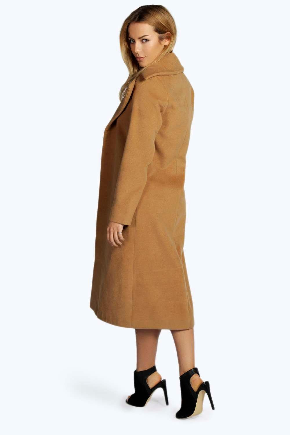 Jeeny Camel Wool Look Coat | Boohoo
