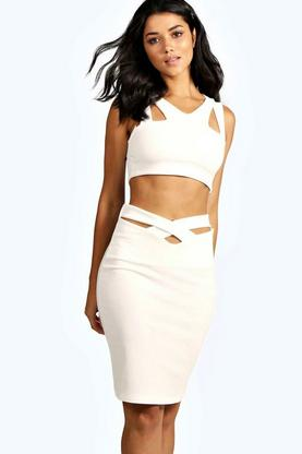 Ramona Cut Work Midi Co-Ord Set
