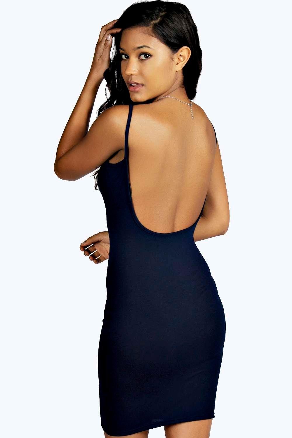 Low Back Bodycon Dress  navy