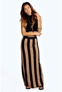 Riley Wide Stripe Maxi Skirt