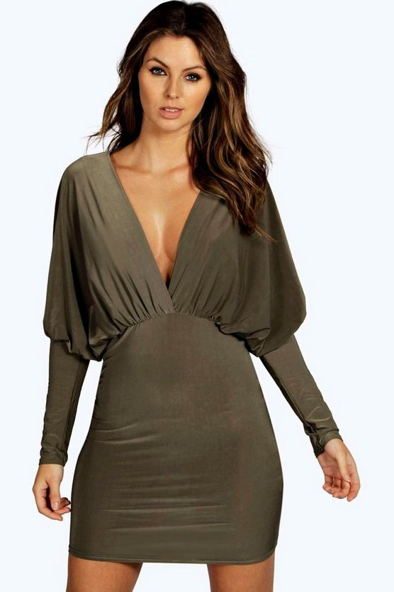 Bea Plunge Slinky Bodycon Dress
