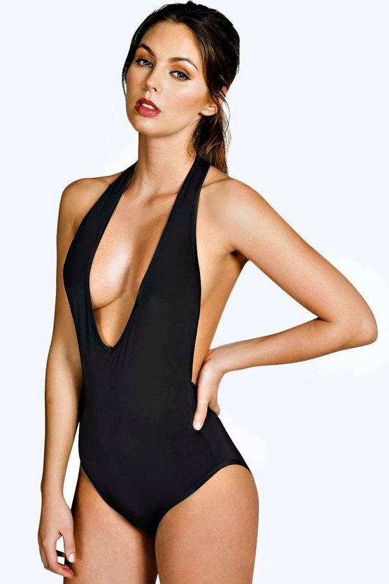 Evelyn Deep Plunge Racer Back Slinky Body