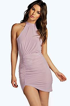 Chris Slinky High Neck Bodycon Dress