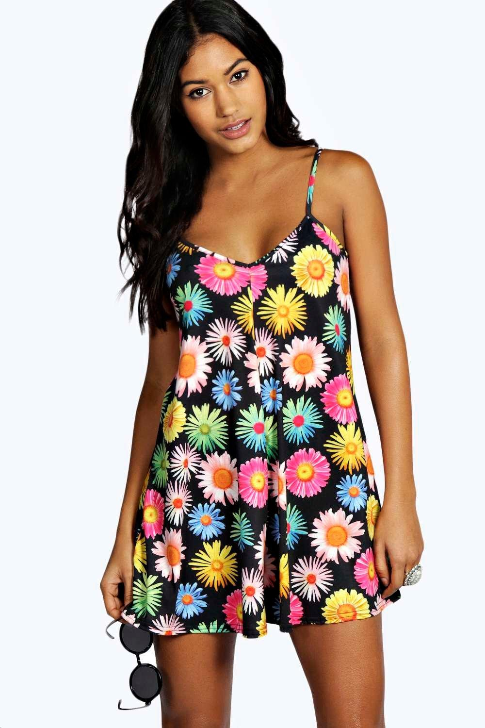 Pixie Daisy Print Swing Playsuit