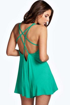 Roise Strappy Jersey Playsuit