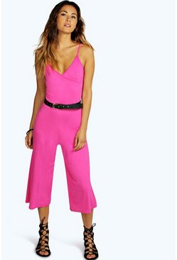 Sally Strappy Culotte Jersey Jumpsuit