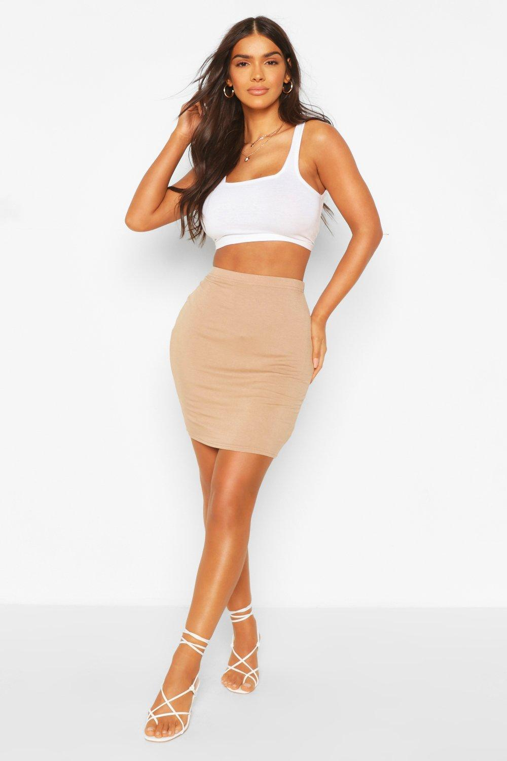 Boohoo Womens Bella Basic Jersey Mini Skirt | eBay