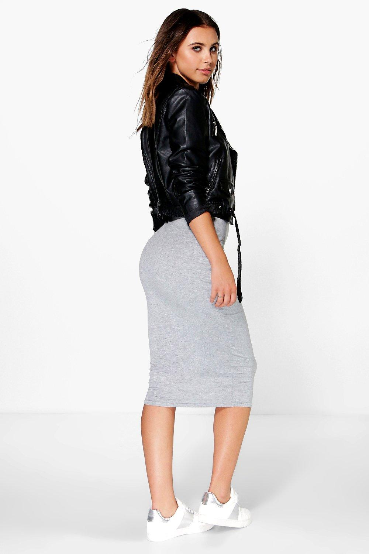 Brea Basic Jersey Midi Skirt | Boohoo