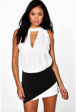 Annie Asymmetric Colour Block Skort