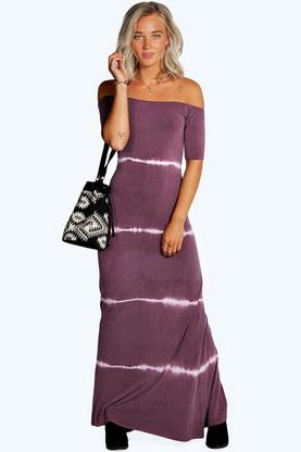Tina Tiedye Off The Shoulder Maxi Dress