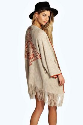 Boutique Karla Knit Tassel Cardigan