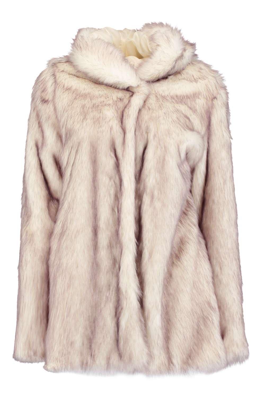 Boutique Lois Hooded Faux Fur Coat