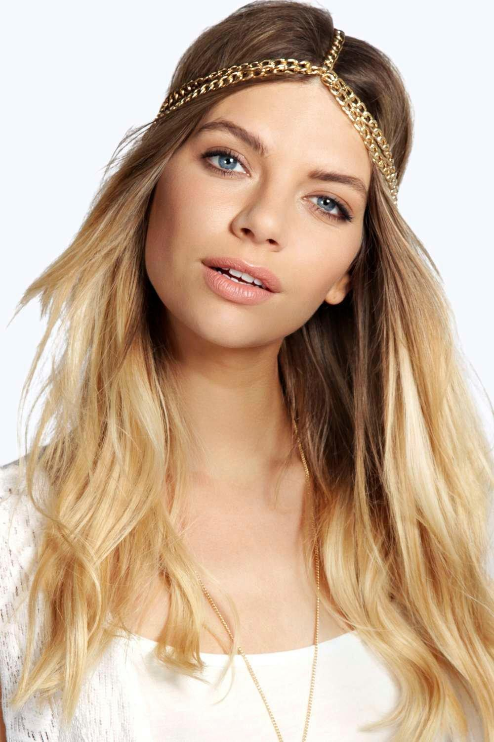 Chain Hair Crown - gold - Say bye to bad hair days