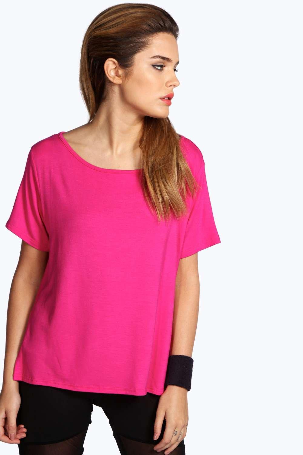 Aleena Slash Neck Sports Tee