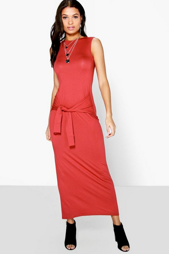 Suzie Tie Waist Detail Maxi Dress