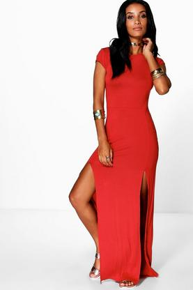 Carrie-Ann Front Split Maxi Dress
