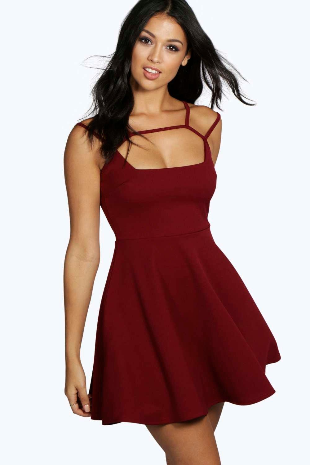 Casey Strappy Detail Skater Dress
