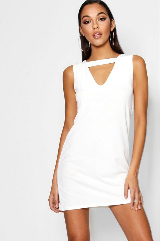 Zena Cut Out Detail Shift Dress