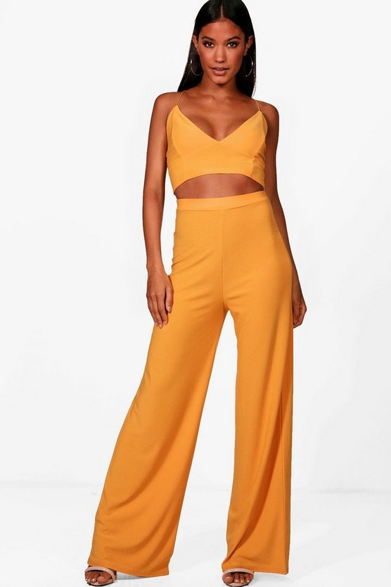 Crepe Bralet Palazzo Trouser Co-Ord