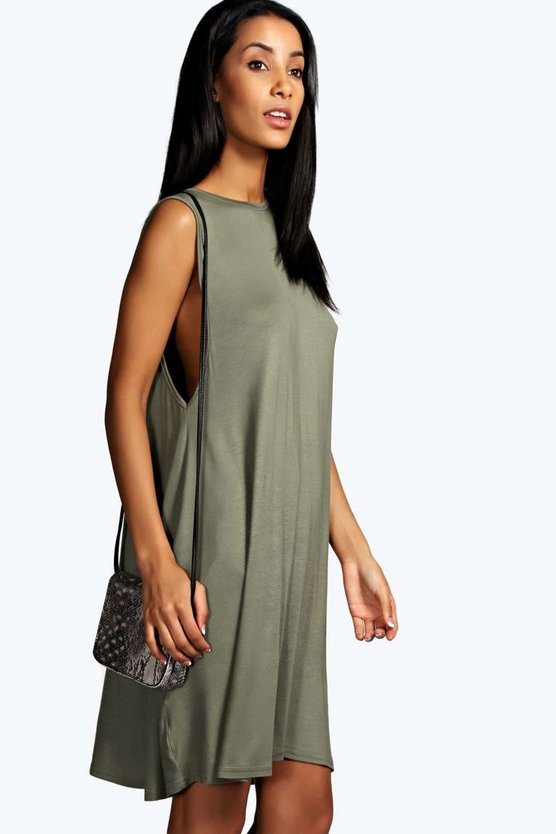 Drop Armhole Swing Dress