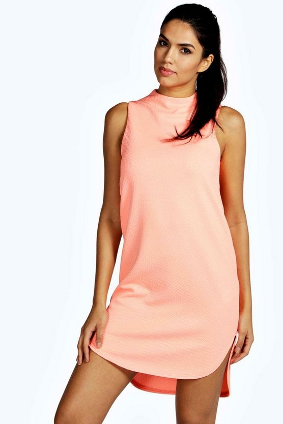 Lana Dip Hem Sleeveless Shift Dress