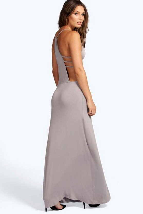 Eliza Back Detail Maxi Dress