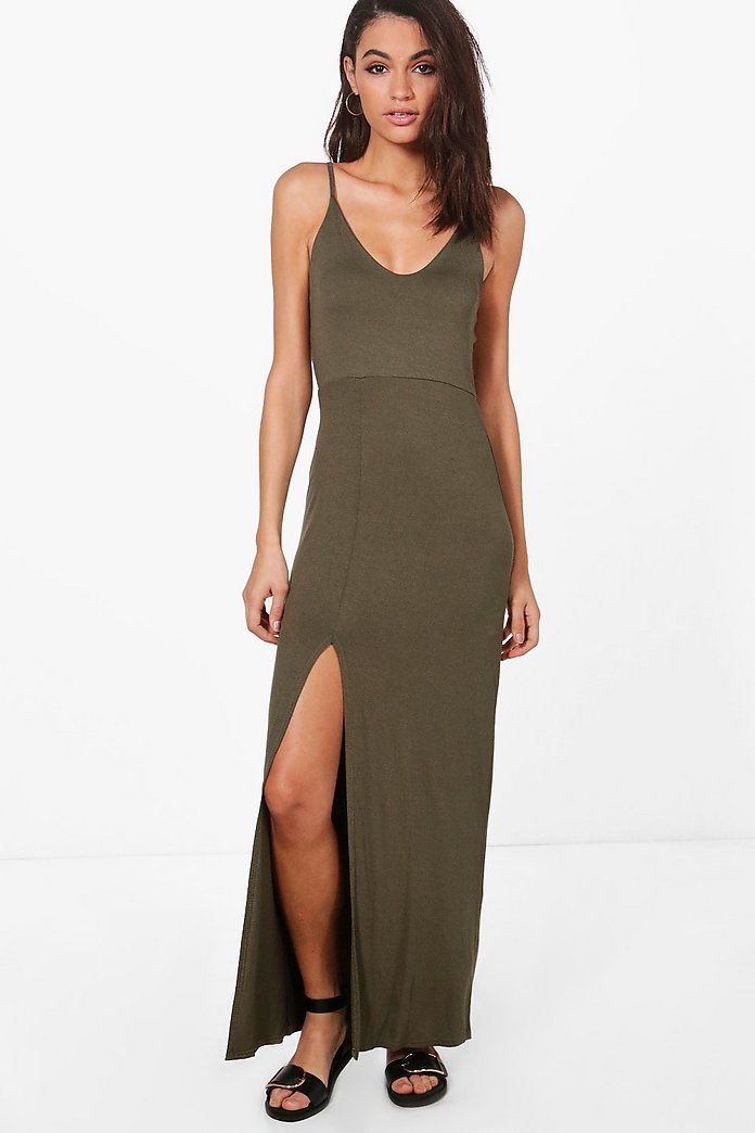 Sarah Strappy Back Maxi Dress