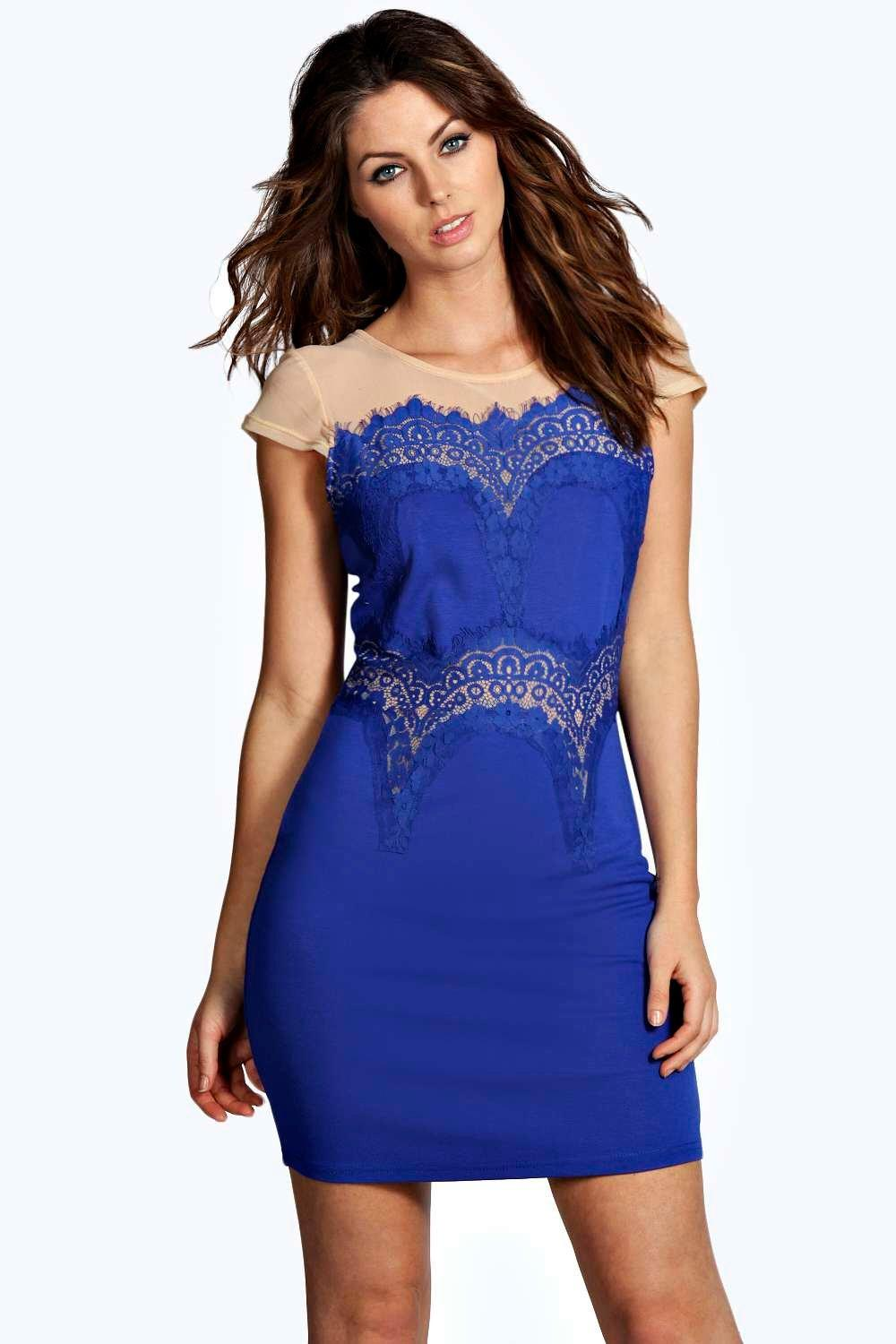 Iona Boutique Eyelash Lace Bodycon Dress