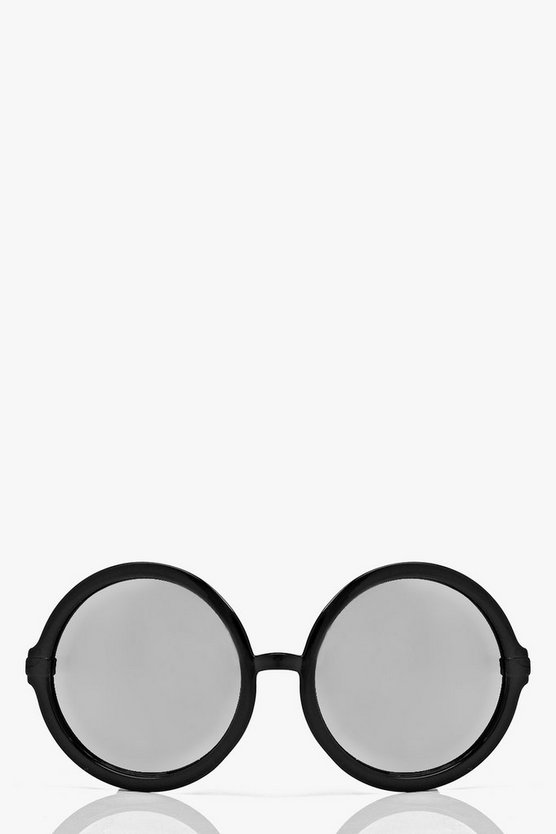 Eisha Mirrored Lense Round Sunglasses