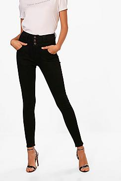 Sandy Super High Waisted Skinny Jeans