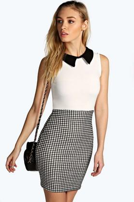 Camen Collared Bodycon Dress