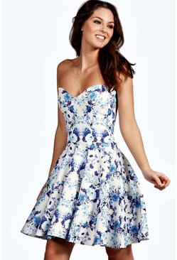 Hallie Bandeau Skater Dress