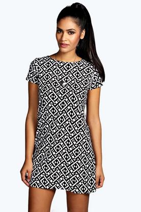 Lisa Geo Shift Mini Dress