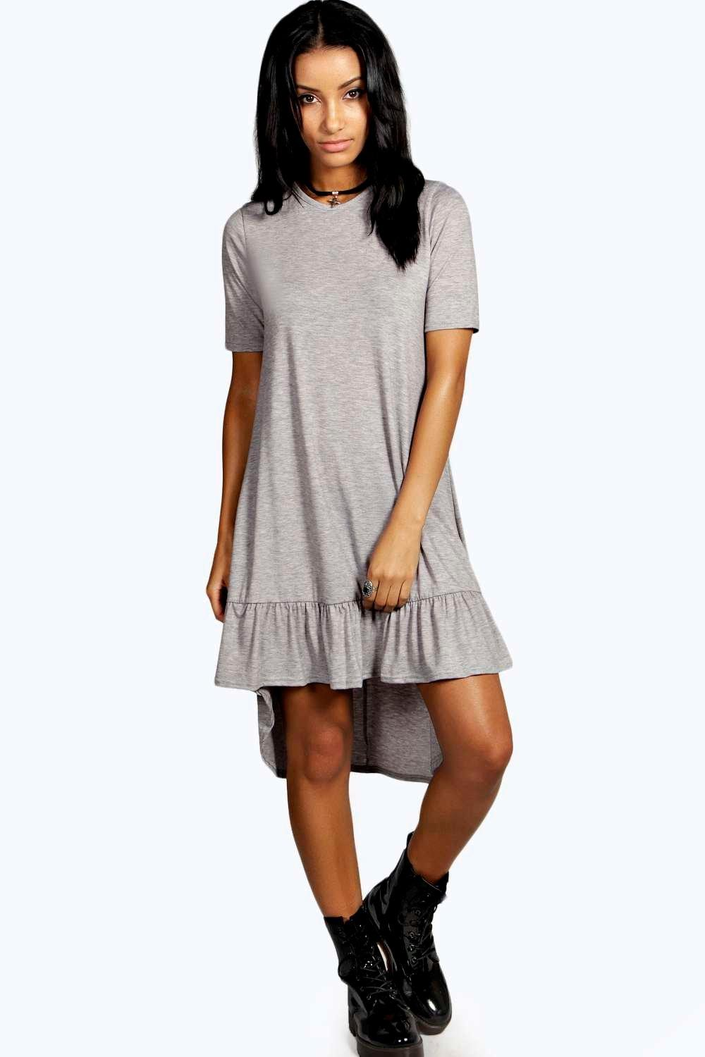 Natalie Drop Hem Swing Dress