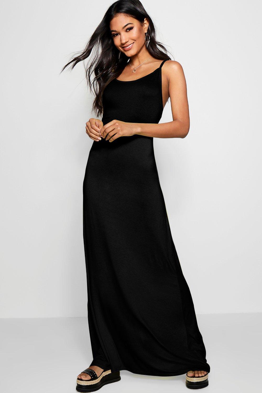 Libby Strappy Low Back Maxi Dress | Boohoo