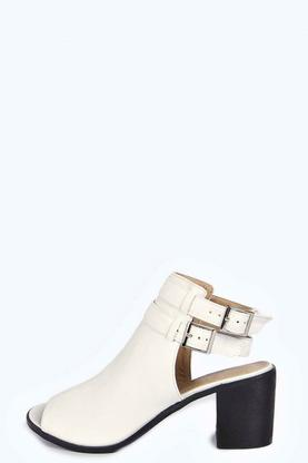 Hope Double Ankle Strap Peeptoe Gladiator Shoe Boot