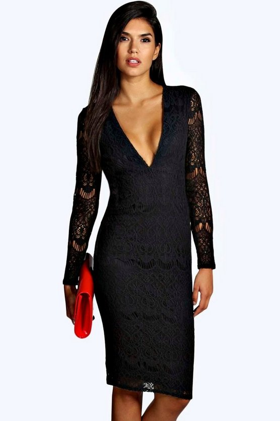 Boutique India Crochet Lace Midi Dress