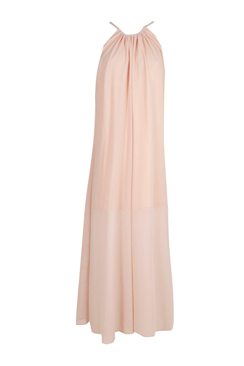 Unique  About Boohoo Womens Boutique Lily Embellished Chiffon Maxi Dress
