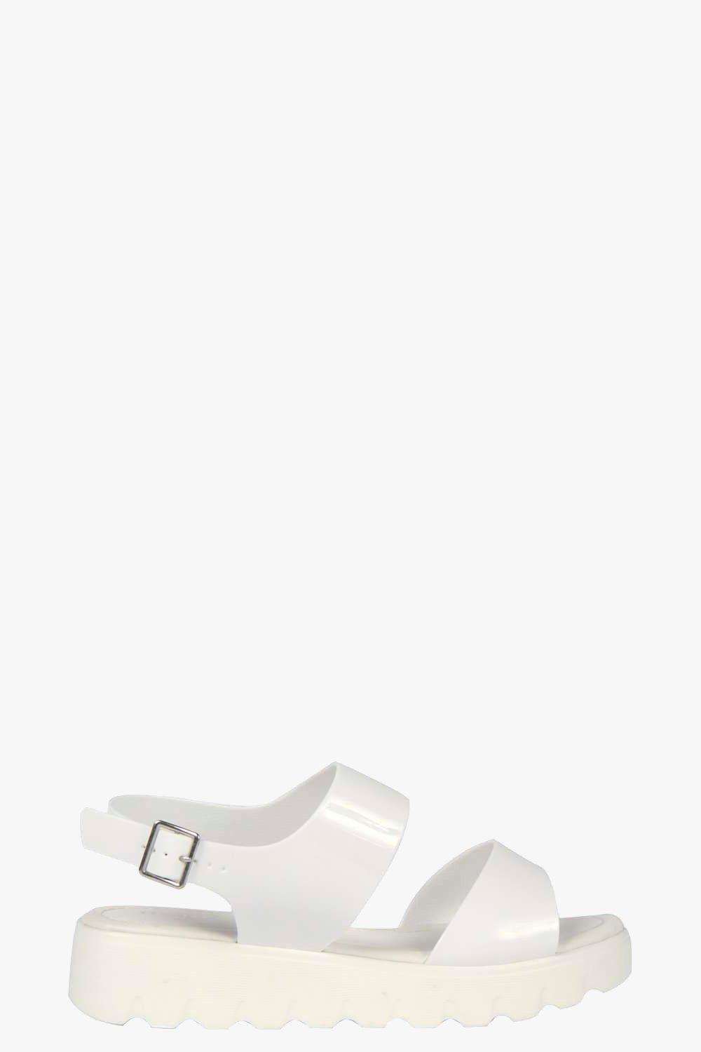 Holly Cleated Double Strap Jelly Sandal