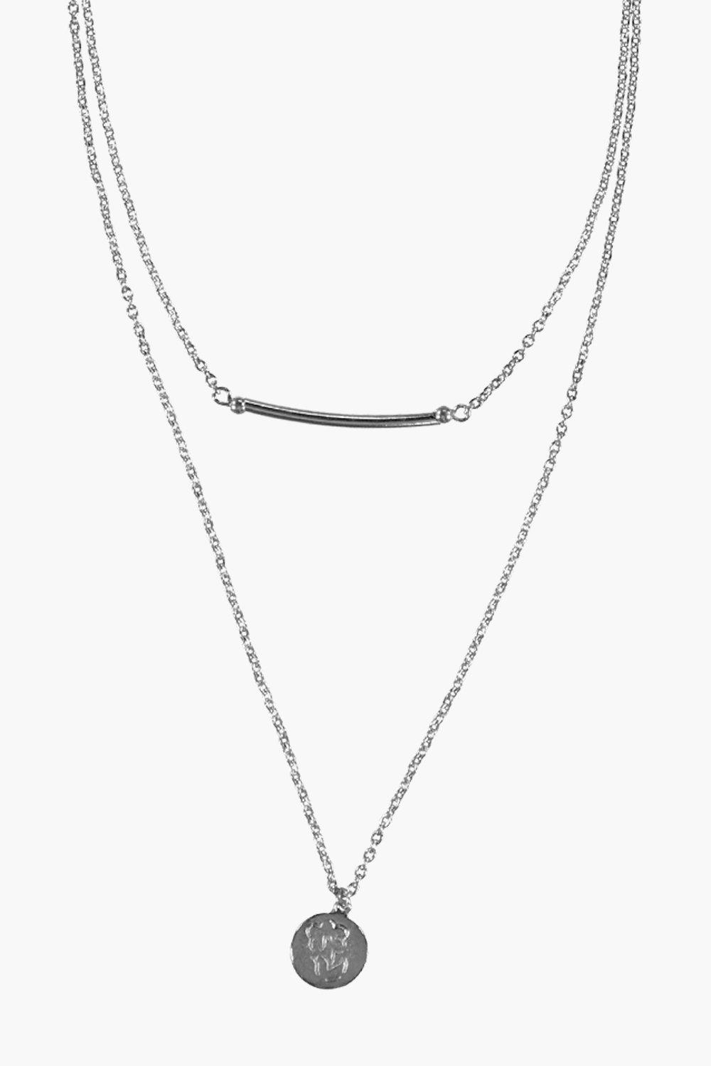 Evette Layered Bar and Coin Necklace