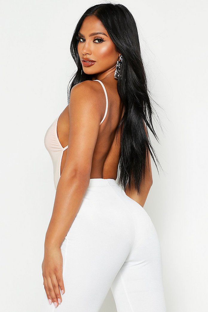 Leah Backless Strappy Slinky Body