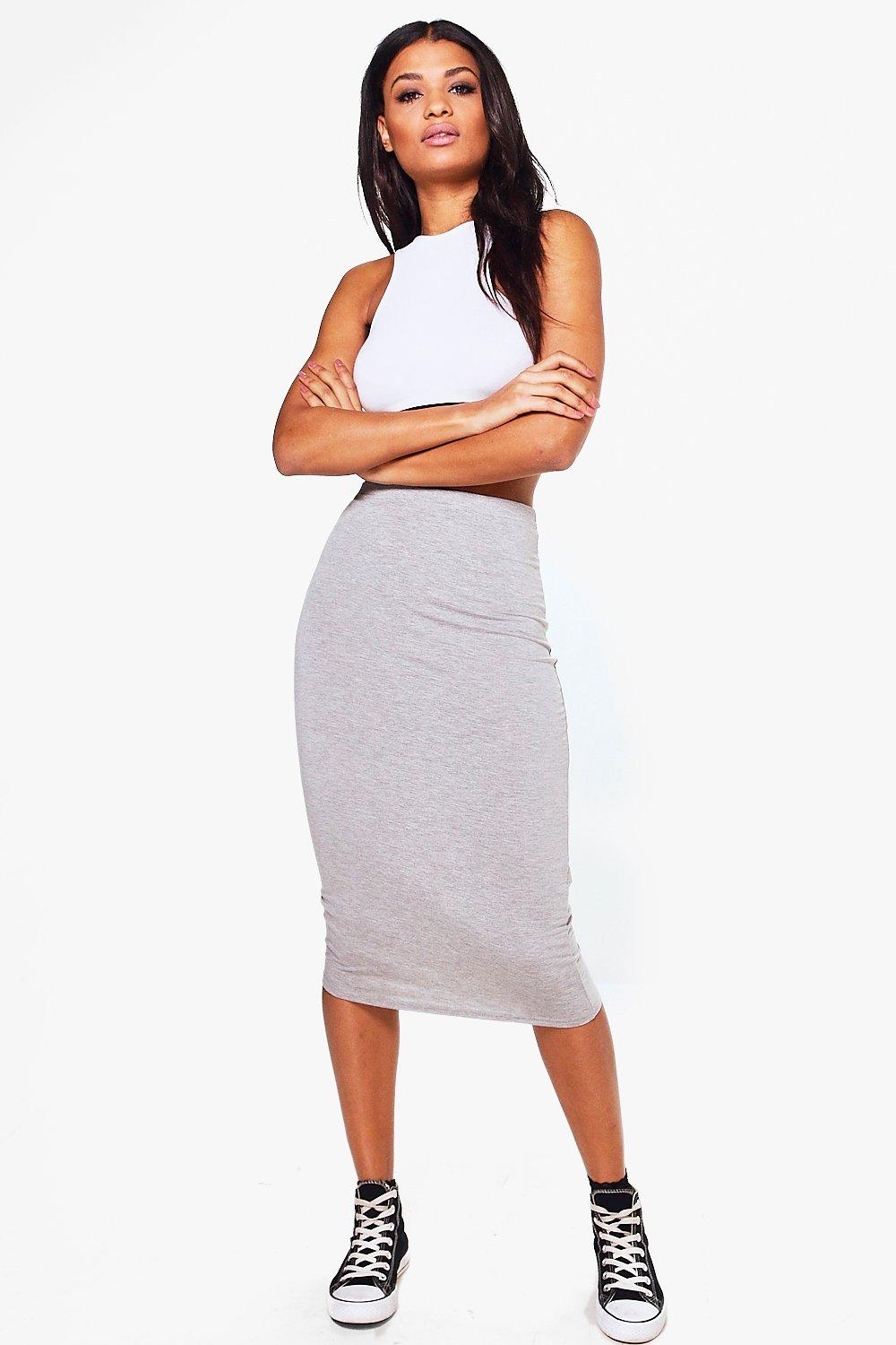 Midi Skirt grey marl