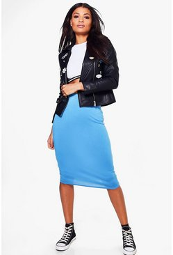 Mindy Basic Jersey Midi Skirt