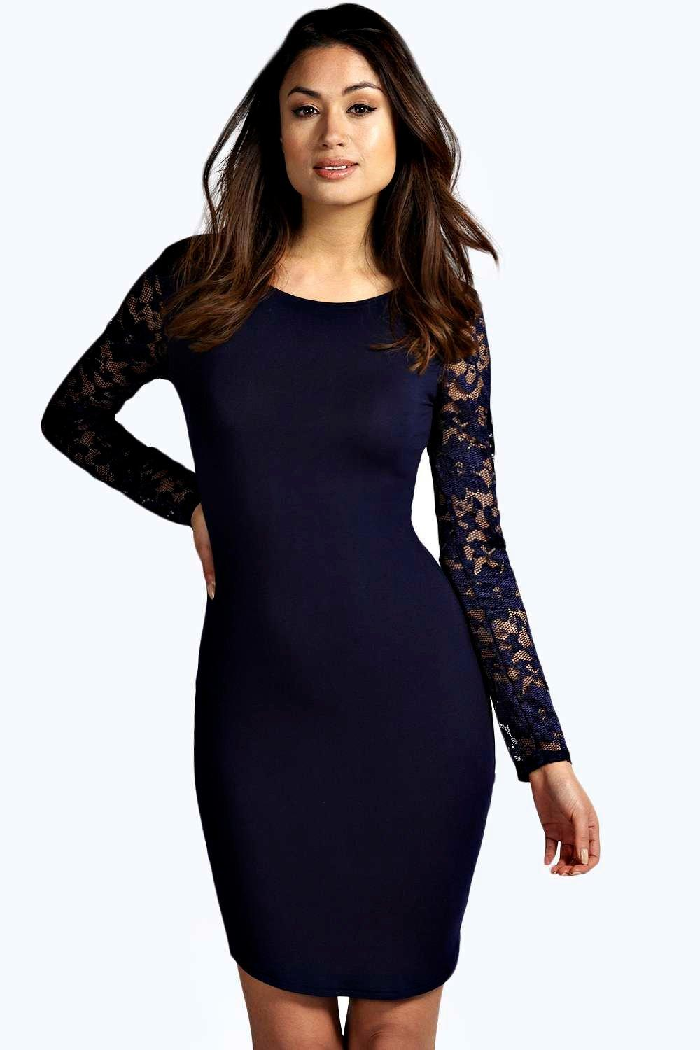 Susie Lace Sleeve Bodycon Dress | Boohoo