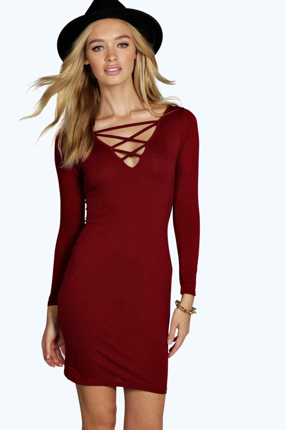 Lou Strappy Insert Detail Bodycon Dress