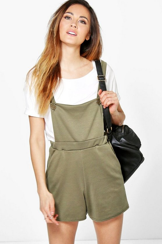 Mollie Ponte Cross Back Dungarees