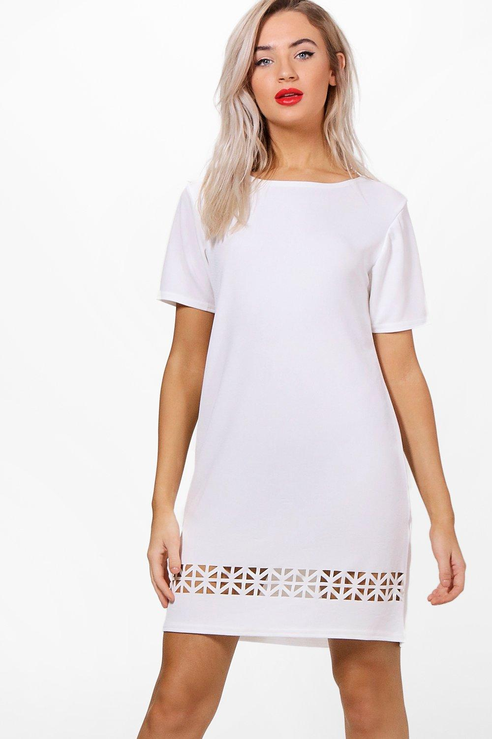 Kyle Laser Cut Shift Dress
