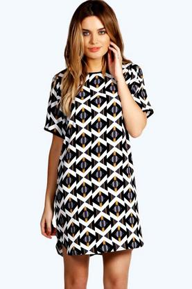Amelia Geo Shift Dress