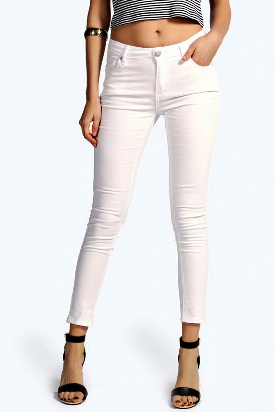 Evie Low Rise Ankle Grazer Jeans